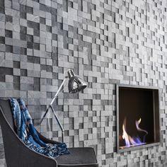 Plaquette de parement pierre naturelle gris clair / gris foncé Créativa #homedecor #mur #ideedeco