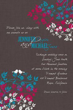 Bird wedding invite