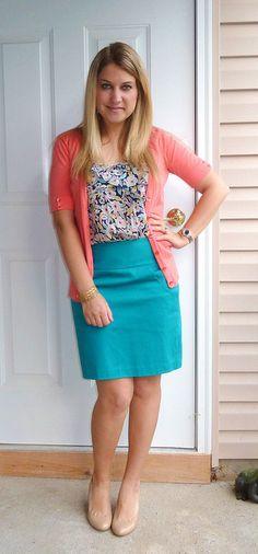 Hmm, have similar skirt, same cardi....and can duplicate blouse.  hmmm....
