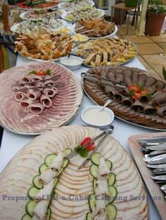 Pat-a-Cakes - Events Deli Tray, Meat Trays, Meat Platter, Deli Platters, Wedding Reception Food, Wedding Menu, Easy Wedding Food, Buffet Wedding, Wedding Catering