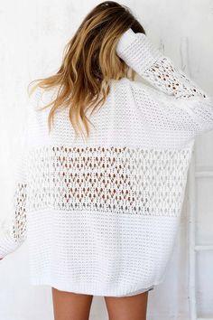Tamia White Knit | SABO SKIRT