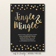 Jingle and Mingle Christmas Party Invitation by Oohlalovely