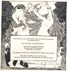 Alfred Roller, Ver Sacrum, 1898, No. 11, poem by Arno Holz