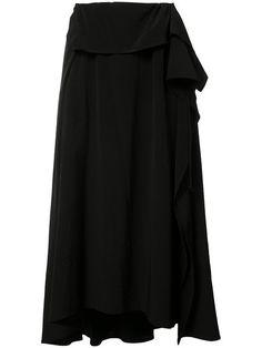 Y'S pleated flare skirt. #ys #cloth #skirt