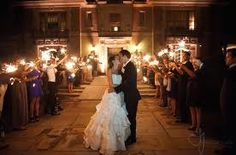Aldredge House wedding with sparklers. I want the same!