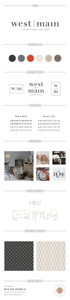 Brand Launch :: Brand Style Board :: Interior Stylist Branding :: West Main Brand Design :: #branding www.wildsidedesign.co