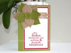 Christmas Card, carte de Noël, weihnachtskarte handmade with Stampin' Up!, Lighthearted Leaves, Blättertanz, Zauberhafte Zierde, Embellished Ornaments, Berlin Stampin' Up!, SU   https://stempelnstanzenstaunen.wordpress.com/