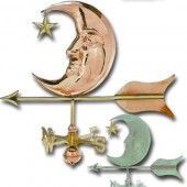 Moon and Star Copper Weathervane