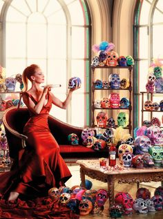 "CAMPARI CALENDAR 2014 - ""Worldwide Celebration"" - Starring Uma Thurman by Koto Bolofo"