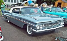 1959 Chevrolet Impla Convertible (2nd Gen) 346ci (5.7L) V8 W-Series Turbo Thrust Engine (R.Knight)