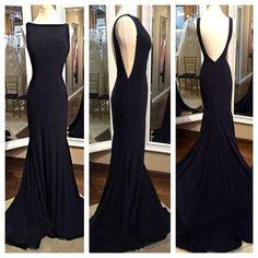 Charming Prom Dress, Backless Prom Dress,Chiffon Prom Dress,Mermaid Evening Dress