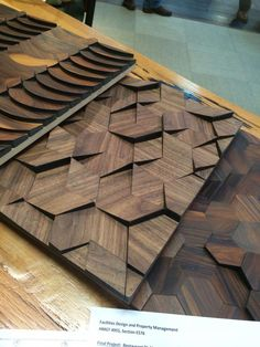 Cool wood tiles Architectural Systems, Inc - Wood Projects Wooden Wall Panels, Wooden Wall Art, Wooden Walls, Wood Art, Tile Design, Wood Design, 3d Panels, Wood Cladding, Into The Woods