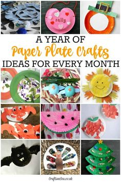 Seasonal paper plate crafts for every month of the year. Cheap crafts for kids and perfect for preschoolers and toddlers. Fun thrifty craft ideas.