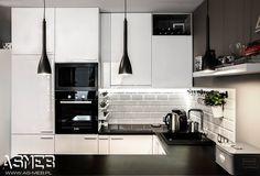 Scandinavian style kitchen by as-meb scandinavian mdf Kitchen Interior, New Kitchen, Home Interior Design, Kitchen Dining, Kitchen Cabinets, High Gloss White Kitchen, Kitchen Organisation, Scandinavian Kitchen, Küchen Design