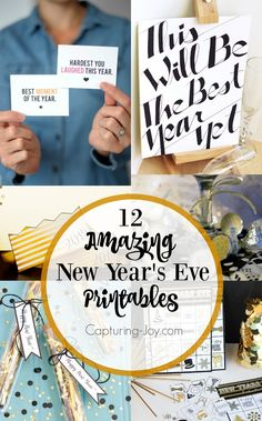 12 new years eve printables