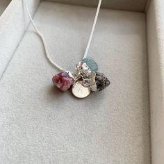 Length 45cm Haematite Double Point Pendant Necklace on Sterling Silver Chain Franki Baker Black haematite