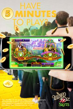 Download The Wizard of Oz Slots to pass the time while you're waiting in line! Join Dorothy, Toto, Scarecrow, Tin Man and the Cowardly Lion as they journey to see the Wizard in this exciting game. Whether it's offline or offline. Play your journey everywhere you go and have your adventure sync across all devices and Facebook Connect. Have an extra 5 minutes? Find the Wizard of OZ Slots game in the App Store and download today!