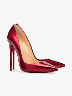 afc72933de8 Christian Louboutin | Metallic Red So Kate 120 Patent Leather Pumps - These  pumps feature all