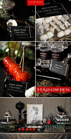 Halloween Party - Printable Dessert Table Party Decorations - FULL SET. $25.00, via Etsy.