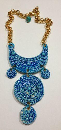 collar de ceramica esmaltada