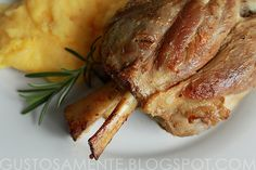 Stinco de maiale - great name. pork knuckle with polenta from Ticino in Switzerland