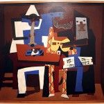 """Cubism is an art style that was introduced in the early 1900's and made use of geometric shapes to express creative ideas. Pablo Picasso was co-founder of this exciting art form. His piece """"Three Musicians,"""" courtesy of Moma 2006, is a great example of this form."""