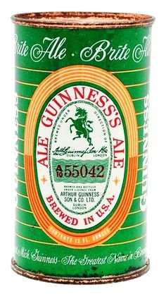 Guiness Ale , Detroit MI ~ 1956 Beer Can Collection, Beer History, Old Beer Cans, Beer Company, Lager Beer, Beer Brands, Pints, Best Beer, Beer Lovers
