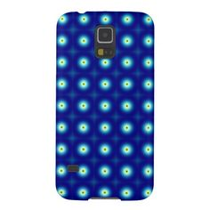 Blue Circles Samung Galaxy S5 Case  #blue #fractals #samsung #phone #zazzle