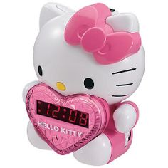 Hello Kitty AM/FM Projection Clock Radio with Battery Back Up