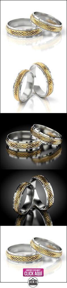 Anillos De Boda Oro Blanco / Oro amarillo 750_PD155_S-991  ✿ Joyas para hombres especiales - lujo ✿ ▬► Ver oferta: https://comprar.io/goto/B01DOPWLF4