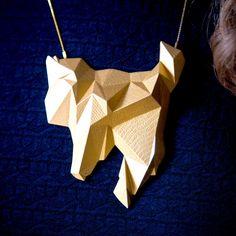 Mt Everest Necklace Gold
