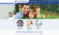 #sesamewebdesign #psds #dental #responsive #blue #green #texture #sticky #sans #topnav #top-nav #fullwidth #full-width #circles