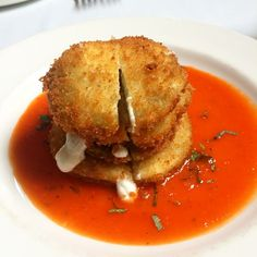 classic fried green tomatoes from South City Kitchen