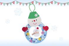 土台となる大きい雪だるまは、紙皿一枚で作れます。小さな雪だるまを真ん中に飾って親子に。 Christmas Crafts, Xmas, Christmas Ornaments, Kindergarten Crafts, Winter Fun, Pre School, Cool Kids, Diy And Crafts, Infant