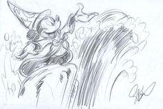Garrido, Sergio - Original Sketch #8 - Mickey Mouse - The Sorcerer's Apprentice - W.B.