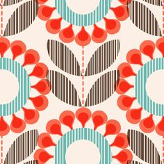 floral print by Rachel Cave | print & pattern blog