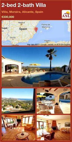 2-bed 2-bath Villa in Villa, Moraira, Alicante, Spain ►€330,000 #PropertyForSaleInSpain