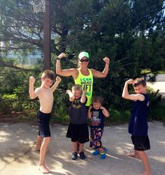 staying in shape when you have lots of kids isn't easy but it can be done!