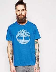 "T-shirt by Timberland Soft-touch jersey Crew neck Large logo print Regular fit - true to size Machine wash 100% Organic Cotton Our model wears a size Medium and is 185.5cm/6'1"" tall"