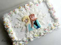 Elsa+Cake+Topper | Frozen Inspired Fondant Elsa and Anna cake topper! Perfect for a ...