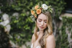 Bride with Flower Crown | We Are Twine Photography on @loveincmag via @aislesociety