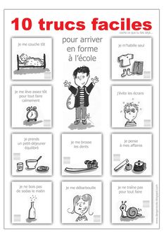 danger école routine get ready for school preparation morning back to school French Teaching Resources, Teaching French, Teaching Tools, French Education, Kids Education, How To Speak French, Learn French, Core French, French Grammar