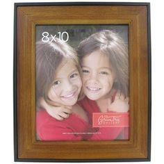 "8"" x 10"" Walnut Photo Frame with Black Edges | Shop Hobby Lobby $10.99"