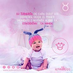 ¡Su ternerita los derretirá con su primera mirada! #360kosmokids #Niña #tauro #astrología #horóscopo #bebé Crochet Hats, Taurus, Faces, Bebe, Knitting Hats
