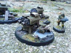 Converted Tarantula Gun Turret Warhammer Imperial Guard, 40k Imperial Guard, 40k Armies, Gun Turret, Warhammer Terrain, Game Terrain, Sci Fi Models, Sci Fi Weapons, Warhammer 40k Miniatures