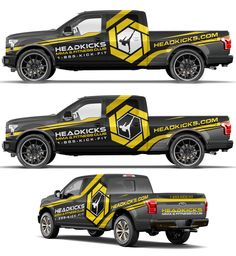 Bold truck wrap for Head kicks fitness