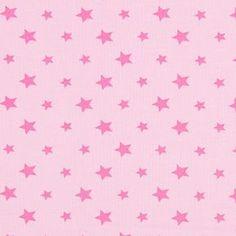 Jersey Coloured Stars 17 - Cotton - Spandex - light pink