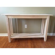 Top Product Reviews for Unfinished Solid Parawood Mission Console/ Sofa Table - 9362999 - Overstock.com