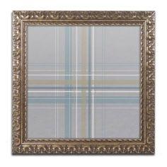 Trademark Fine Art Silver Blue Canvas Art by Jennifer Nilsson, Gold Ornate Frame, Assorted