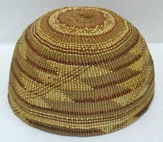 "Native American Indian HUPA Area Hat 7 1 4"" Circa 1900 Basket Three Color | eBay"